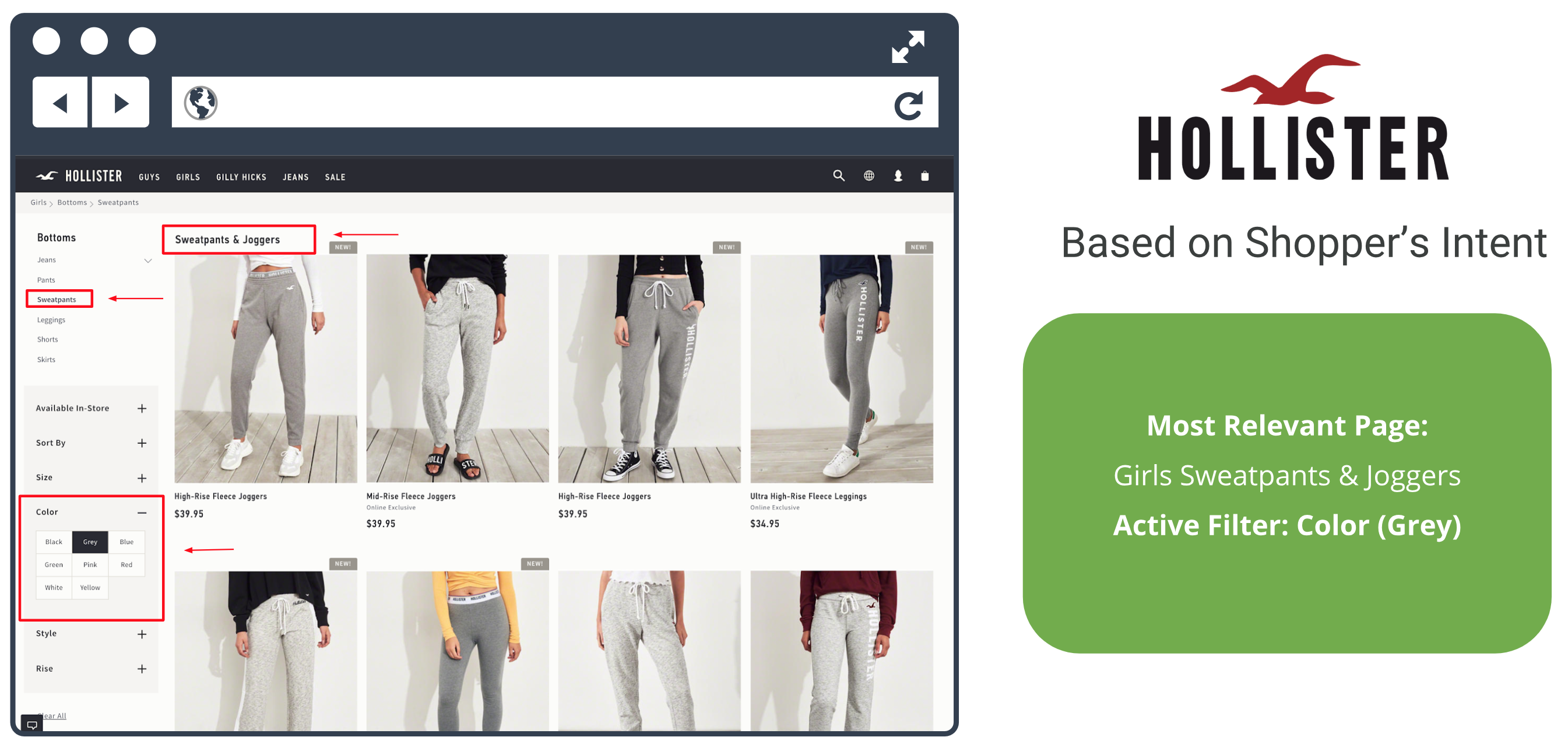 hollister solution based on shoppers intent